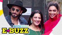 Ranveer Singh Poses With his Mom and Deepika Padukone
