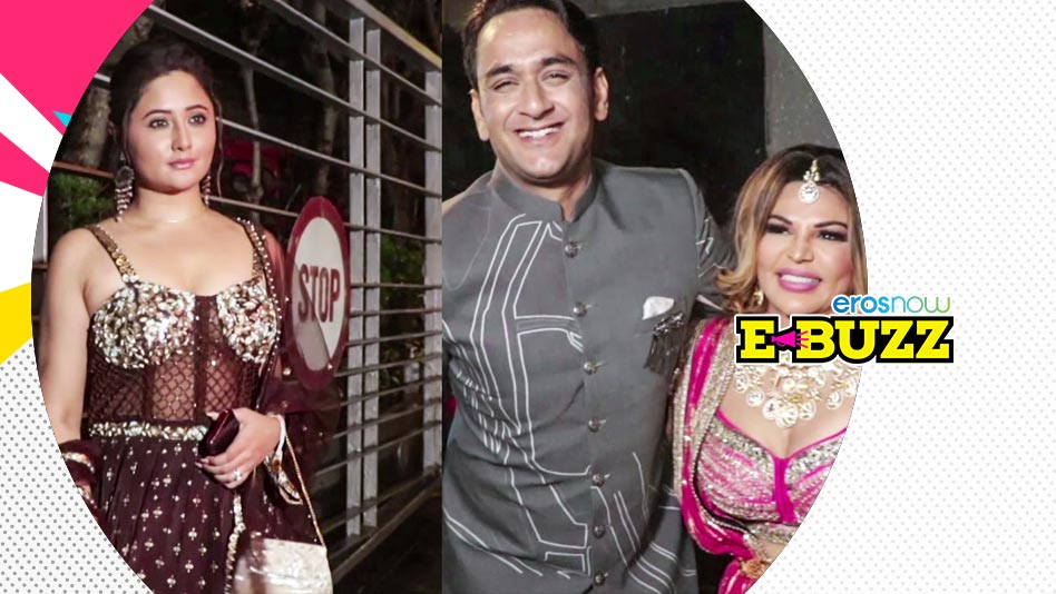 Watch E Buzz - Rakhi Sawant, Rashami Desai & Arshi Khan at  Dishul  Sangeet Ceremony on Eros Now