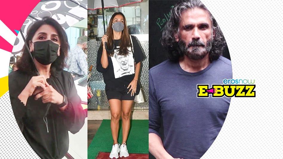 Watch E Buzz - Suniel Shetty, Neetu Kapoor & Pranutan Bahl Snapped on Eros Now