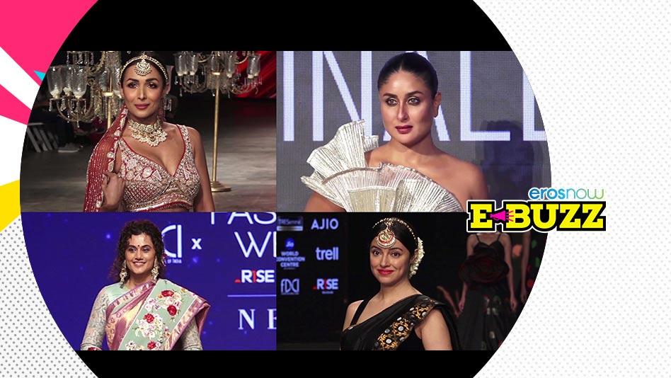 Watch E Buzz - Kareena, Soha, Malaika & Chitrangda Clicked at Lakme Fashion Week on Eros Now