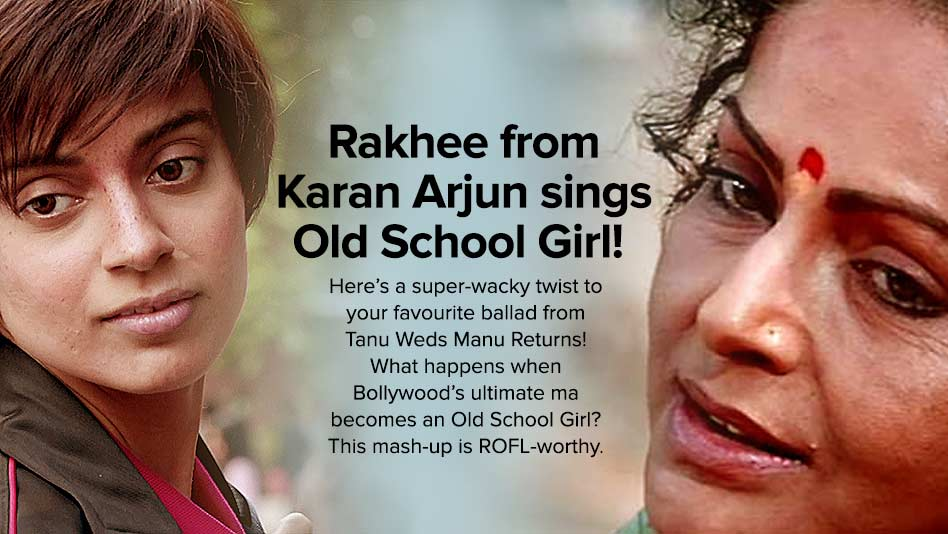 Watch Eros Now Bollywood - Rakhee from Karan Arjun sings Old School Girl on Eros Now