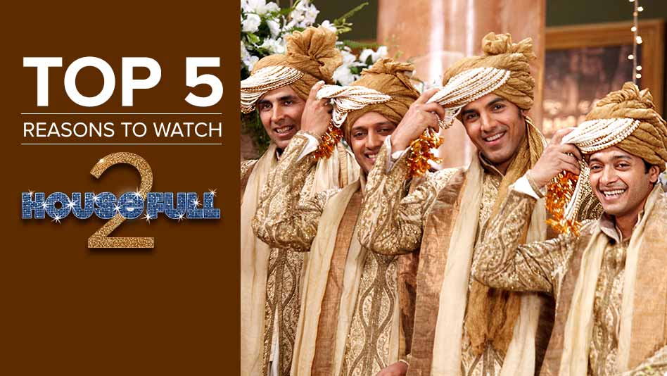 Watch Top 5 Reasons To Watch - Top 5 Reasons to Watch Housefull 2 on Eros Now