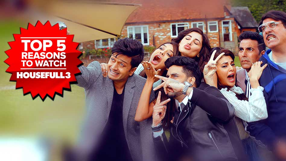 Watch Top 5 Reasons To Watch - Top 5 Reasons to Watch Housefull 3 on Eros Now