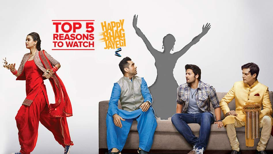 Watch Top 5 Reasons To Watch - Top 5 Reasons to Watch Happy Bhag Jayegi on Eros Now