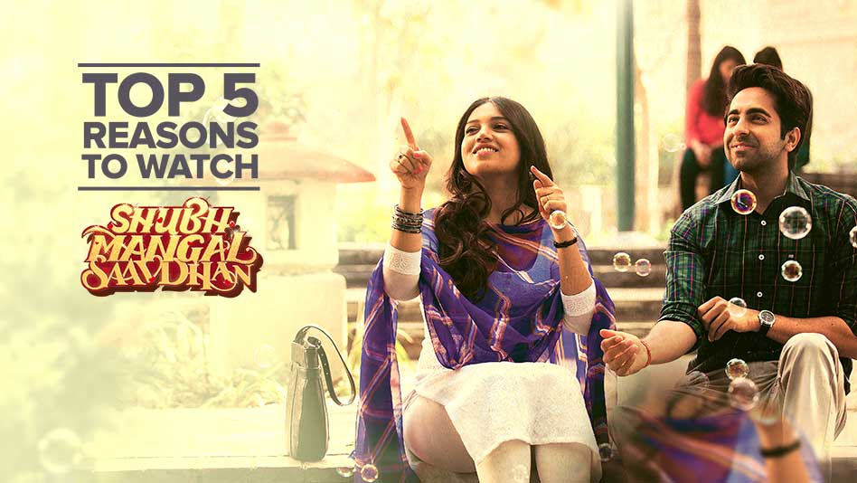 Watch Top 5 Reasons To Watch - Top 5 Reasons to Watch Shubh Mangal Saavdhan on Eros Now