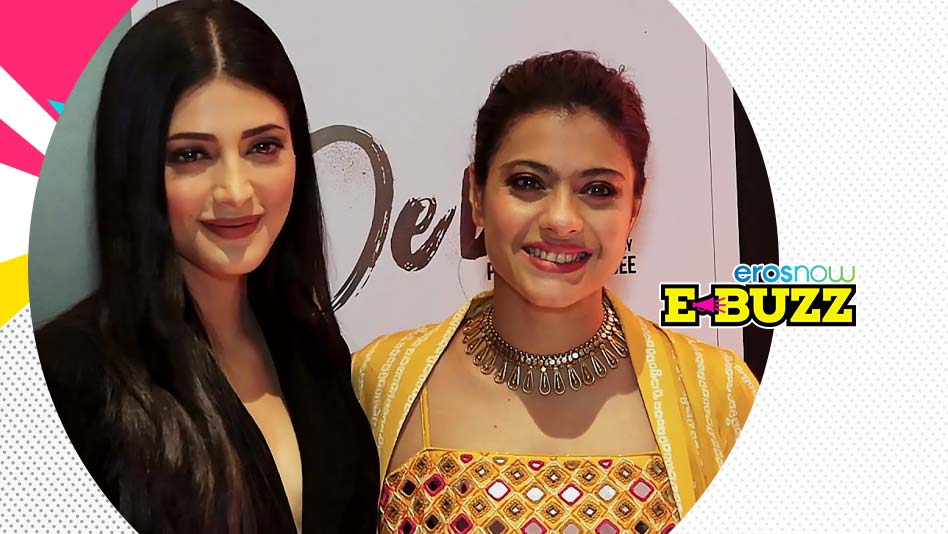 Kajol and Shruti Haasan attend the press conference of a short film.