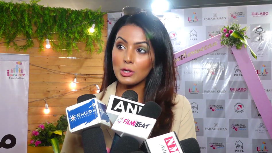 Geeta Basra At A Fundraising Event In Mumbai