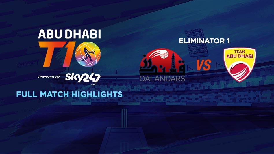 Eliminator 1 - QLD vs AD - Full Match Highlights